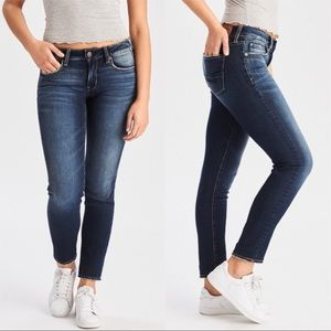 AMERICAN EAGLE OUTFITTERS • SUPER STRETCH SKINNY 0